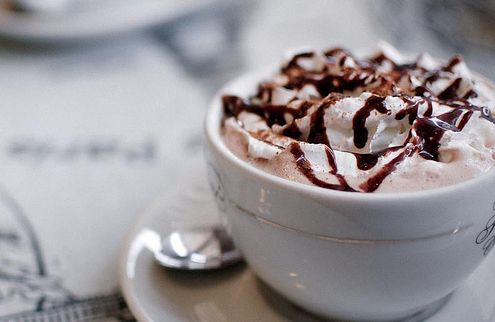 This cappuccino is a work of art! Good thing it tastes as good as it looks. #Coffee #Chocolate #Cappuccino