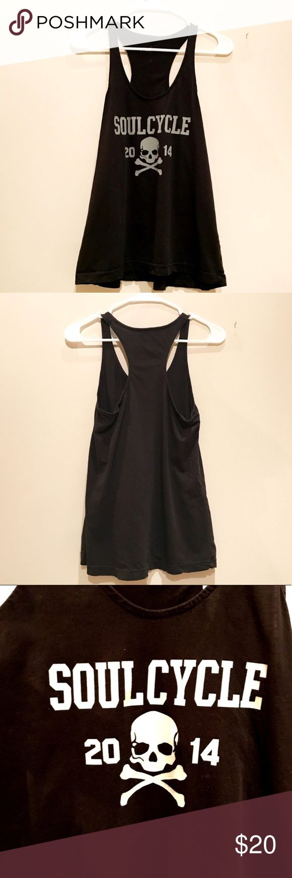 SoulCycle Razorback Tank Top Black SoulCycle tank with Skull. In excellent condition! soulcycle Tops