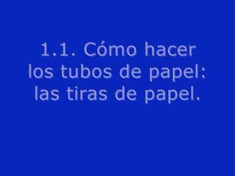 1.1.Cómo hacer tubos de papel de periódico