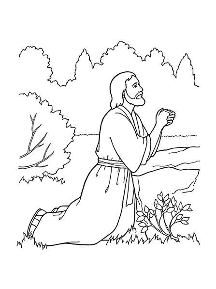 an illustration of the third article of faithatonement jesus christ praying - Jesus Praying Hands Coloring Page