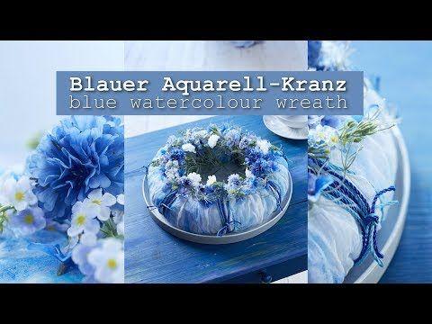 (21) Maritime Symphone: sommerlicher Kranz in blau - YouTube