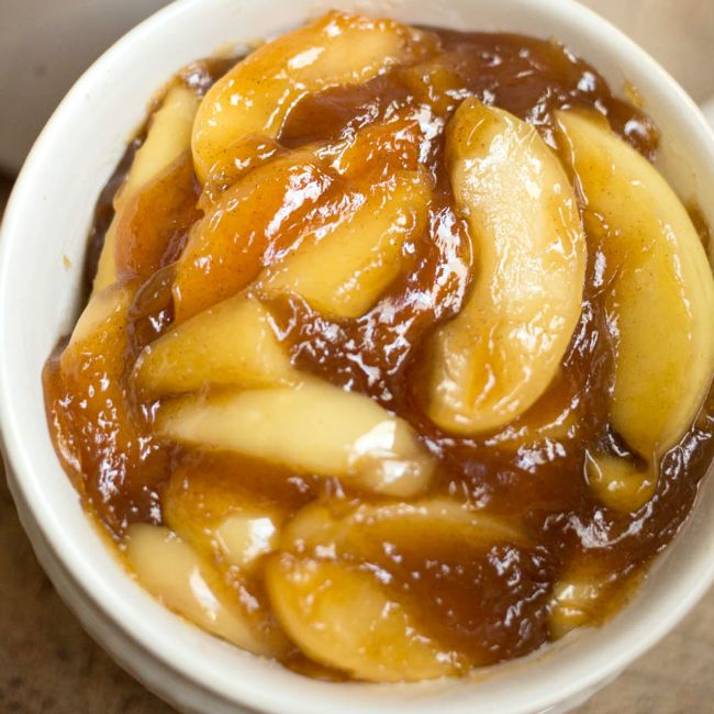 These Easy Crock Pot Fried Apples are a perfect, effortless Thanksgiving side dish or an everyday treat! You'll love how easy they are to whip up!