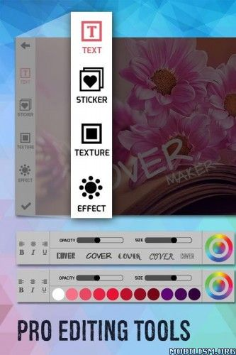Cover Photo Maker & Designer FULL v1.0.5 [Unlocked]Requirements: 4.0.3+Overview: Cover Maker is a powerful tool that will let you design your own unique Cover Photos within seconds, especially it is very useful for creating cover photo for...