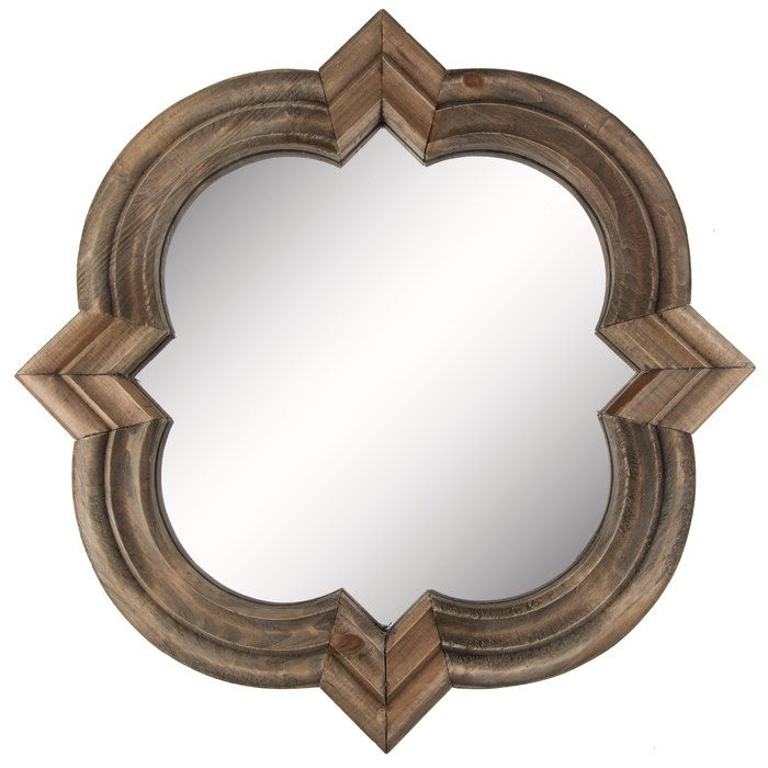 Get Natural Wood Quatrefoil Mirror online or find other Wall Mirrors products from HobbyLobby.com