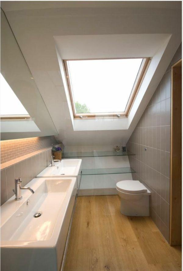 Les 25 meilleures id es de la cat gorie salle de bains for Idee deco salle de bain sous pente