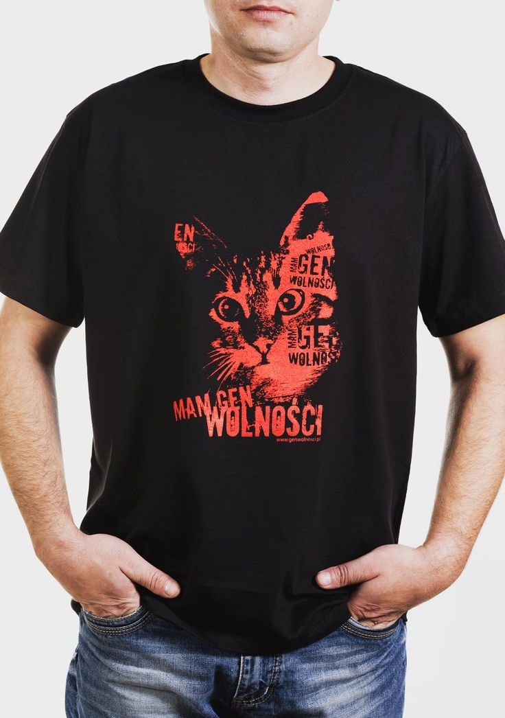 Koszulka kot, Mam Gen Wolności. Projekt: Studio Zakład, www.zaklad.pl