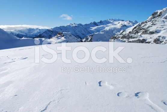 On top of the world, Mt Cook Ranges, NZ royalty-free stock photo