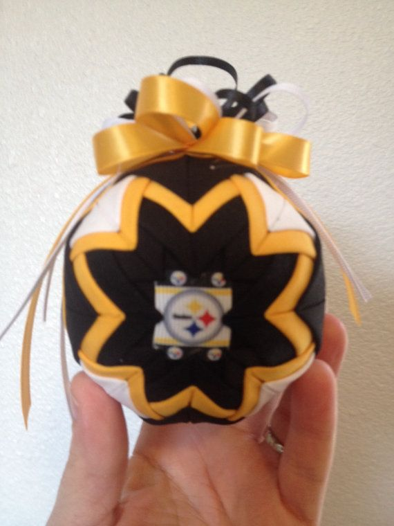Pittsburg steelers ornament by Creativeornament on Etsy