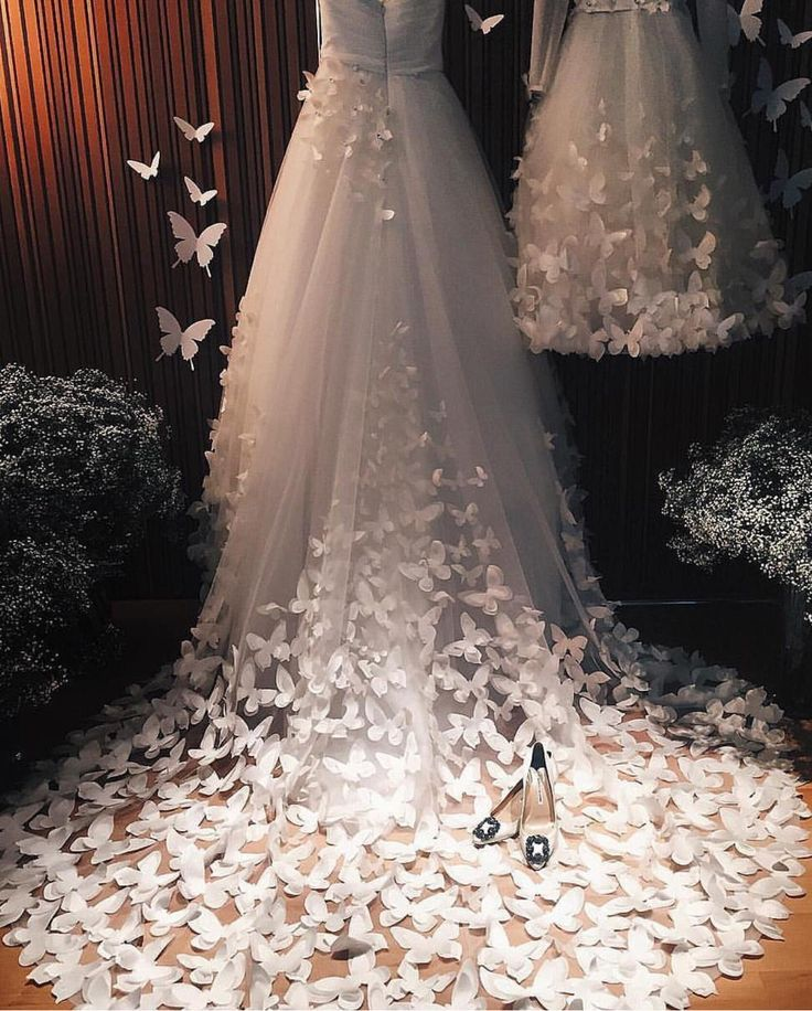 what a stunning gown with 3d butterfly embellishments by speranzacouture