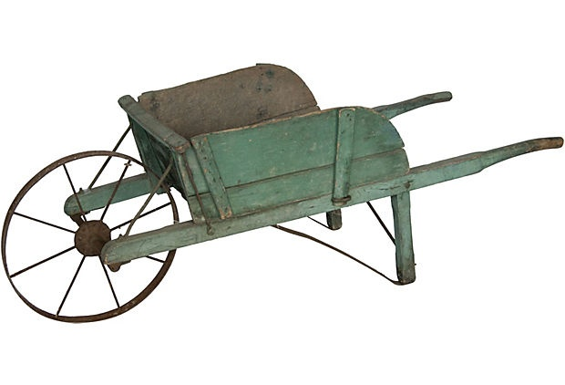 Vintage Garden Wheelbarrow - had an awesome antique one until the roofers threw it out by accident. So disappointed.