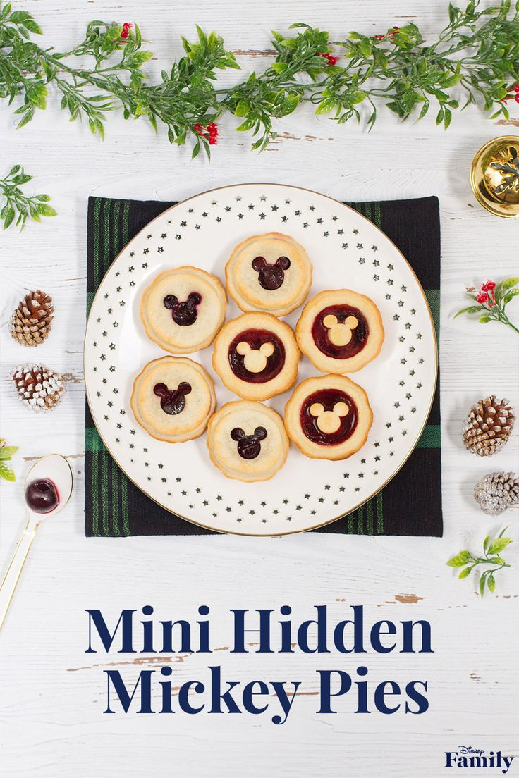 These simple mini cherry pies are a perfect dessert that your kids can lend a hand in making. Added bonus? Their small size makes them more manageable for little mouths! Click for the recipe to create these Mini Hidden Mickey Pies.