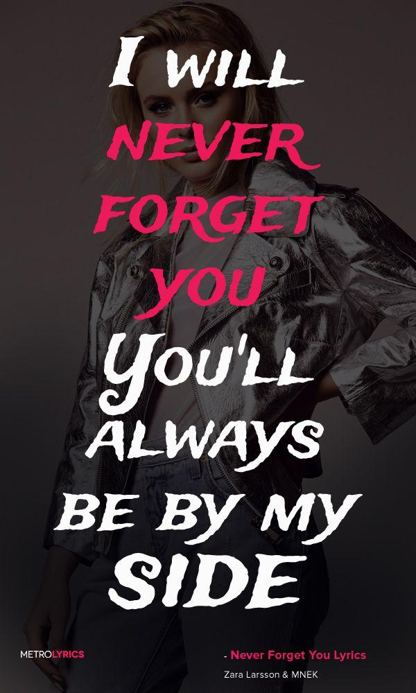 Zara Larsson & MNEK - Never Forget You
