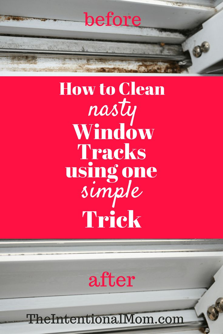 clean-window-tracks with white vinegar baking soda paper towel rag or cloth old toothbrush butter knife