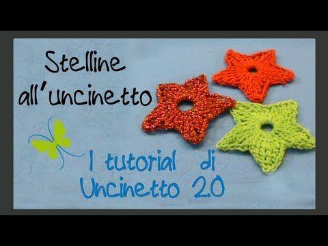 Tutorial uncinetto - Stella a 5 punte - YouTube