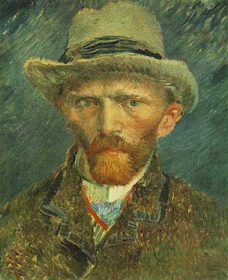 Vincent van Gogh, Self-Portrait with Grey Felt Hat on ArtStack #vincent-van-gogh #art