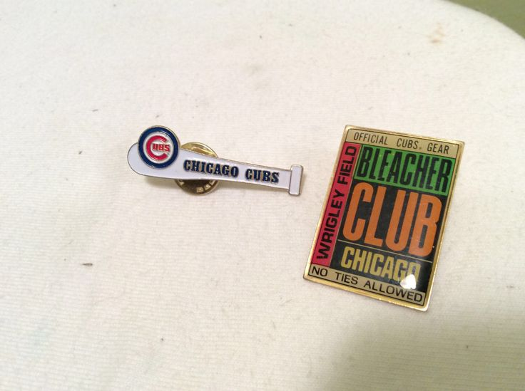 Vintage Chicago Cubs White Baseball Bat Logo Pin and Chicago Bleachers Club Wrigley Field Offical Cubs Gear Harry Caray Win by TheLittlePenguinShop on Etsy https://www.etsy.com/listing/505836618/vintage-chicago-cubs-white-baseball-bat
