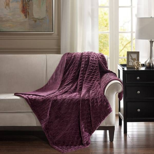 Product Image for Bombay™ Victoria Oversize Throw Blanket $39.99 60 x 70 SPRING (ALL SEASON with purple lamp shade) machine wash and dry