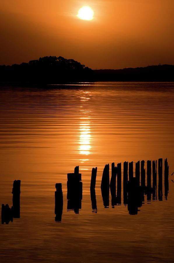 ✯ Setting sun over the bay of Strahan, Tasmania