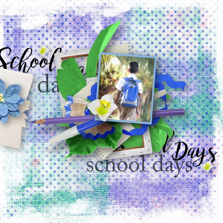 """School Days"" by Eudora Designs, https://www.pickleberrypop.com/shop/product.php?productid=53060&page=1, photo Pixabay"