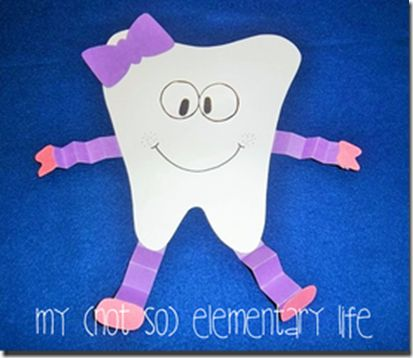 Dental Health Craft with more than 70 pages of supplemental activities for Dental Health month