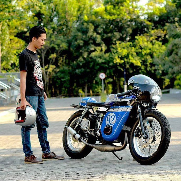 #2Stroke Love:  Yamaha #RXKing135 by @setiawan_teguh. : @fabrizul. #twostroke #caferacer