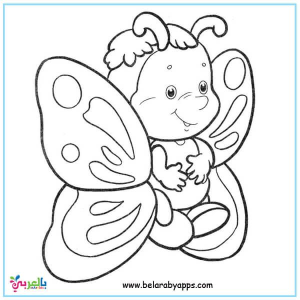 Butterfly Coloring Pages For Kids Preschool Belarabyapps