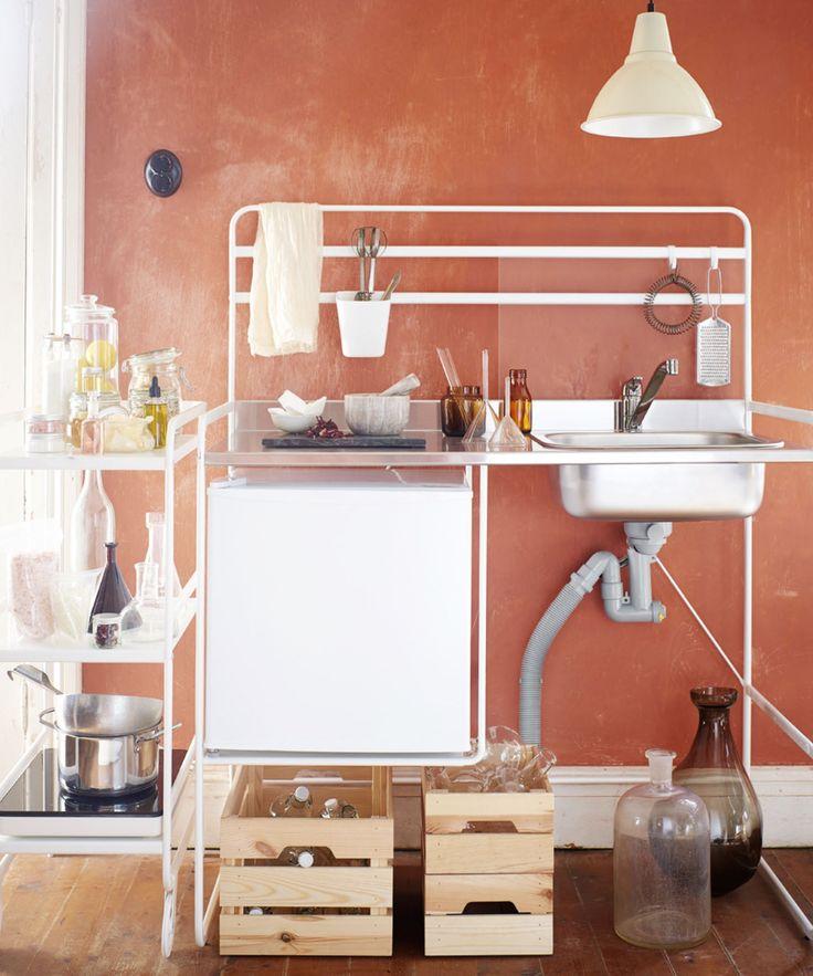 Ikea Sunnersta Mini-Küche für 100€ | Küche bauen, Kleine ...