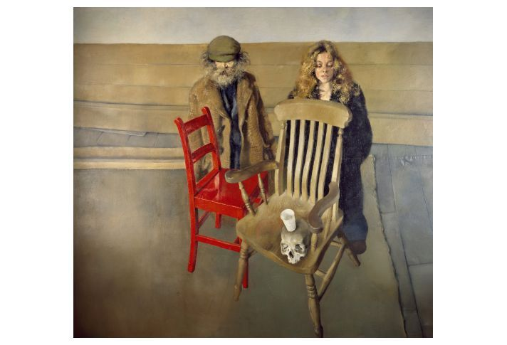 Death & The Maiden | Robert Lenkiewicz | Paintings and Original Works