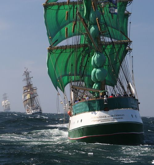 And the race is on! Tall ships race