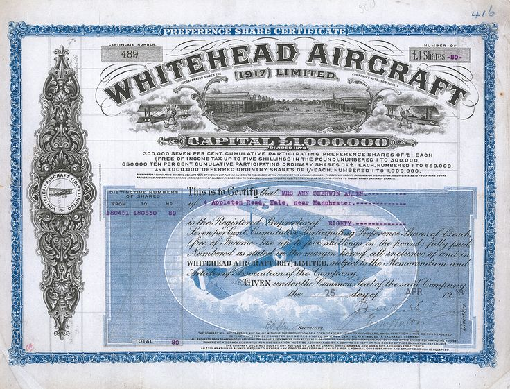 Whitehead Aircraft (1917) Limited, 1918