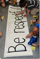 Collaborative rule bannersRules Banners, Decor Banners, 1St Weeks, Decor Rules, Schools 1St, Buildings Activities, Kids Decor, Classroom Rules, Weeks Activities