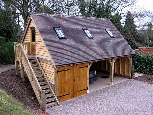 Best 25 timber frame garage ideas on pinterest timber for Diy 3 car garage