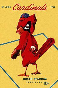 St. Louis Cardinals Vintage Painting - St. Louis Cardinals Vintage 1956 Program by Big 88 Artworks