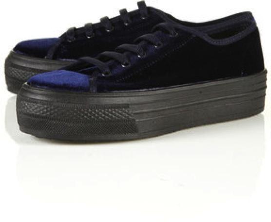 Platform Sneakers/Zapatillas con Plataforma TopShop  Taconless Shoes