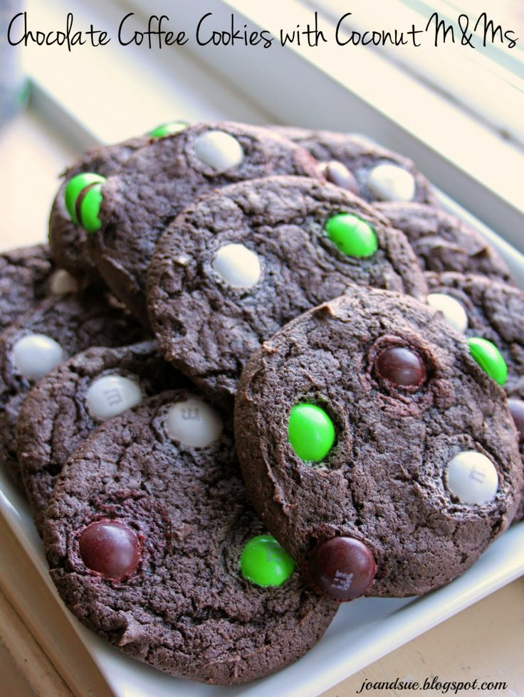 Jo and Sue: Chocolate Coffee Cookies with Coconut M&Ms