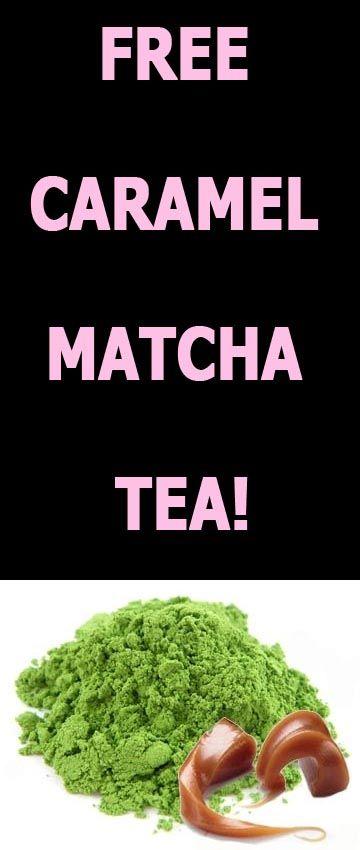 FREE CARAMEL MATCHA TEA SAMPLES!