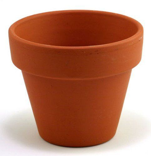 "5 - 5"" Clay Pots - Great for Plants and Crafts by Hirts: Pots. $7.99. High fired, Smooth texture. German made terracotta. 5"" Clay Pot. Crafted from finely filtered clay. You will receive 5 pots. Clay pots can be used as gifts or decorations for the home. Kids of all ages will have a lot of fun making easy projects with little supervision.  Excellent for plants."