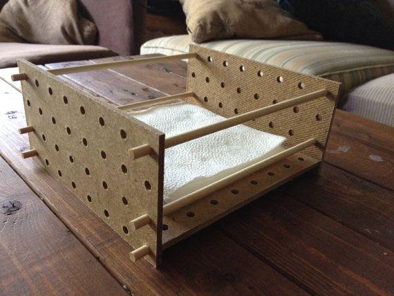 Napkin Holder  Modernist by steelmarshdesign on Etsy