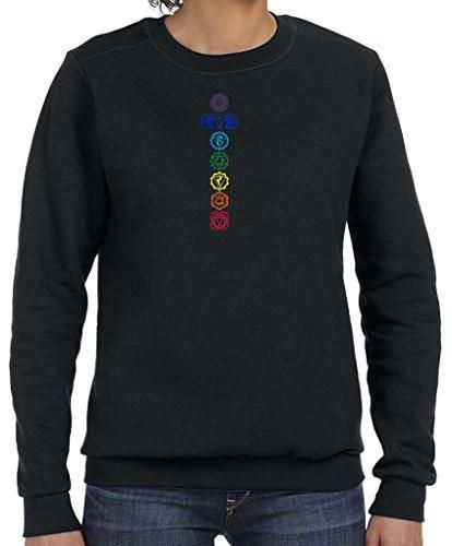 Yoga Clothing For You Ladies Colored Chakras Lightweight Sweatshirt