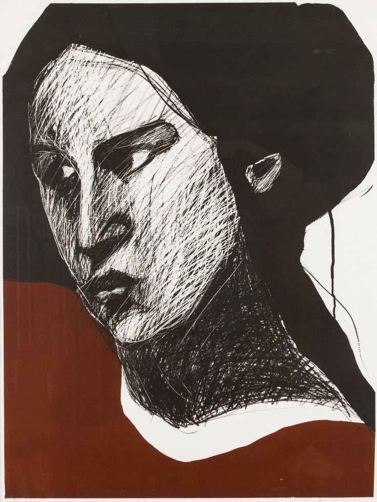 Kuutti Lavonen: Nainen, litografia, 94x69 cm- Hagelstam 5/2016