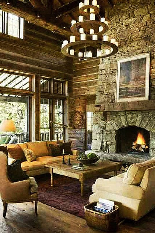 89 best Cozy Rustic Living Room Design Ideas images on Pinterest