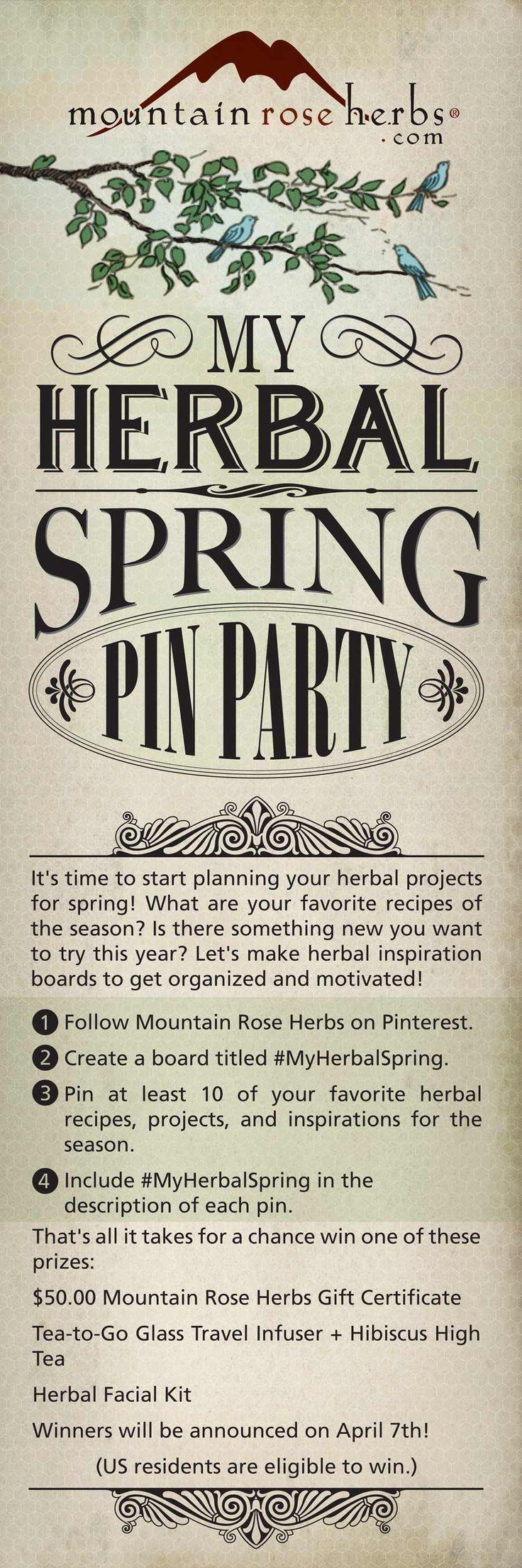 #MyHerbalSpring Pin Party at Mountain Rose Herbs!