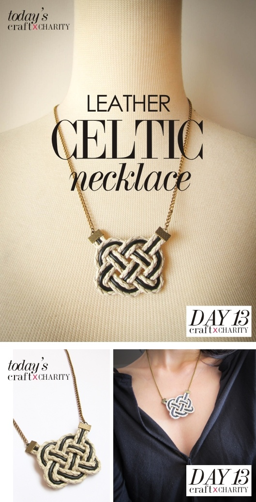 Day 13 - Leather Celtic Necklace