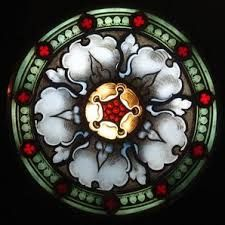 stained glass painted rondel