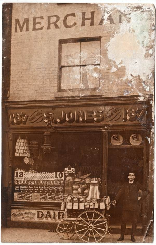 S.Jones, Dairy, 187 Bethnal Green Rd Mernick's East London Shopfronts