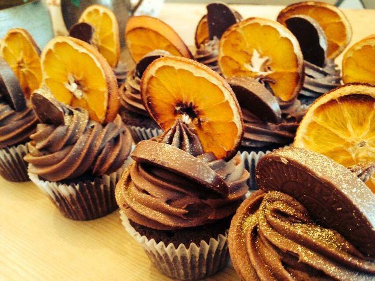 Chocolate orange cakes