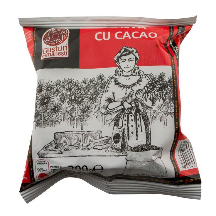 Halva din floarea soarelui cu cacao 200g Gusturi Romanesti