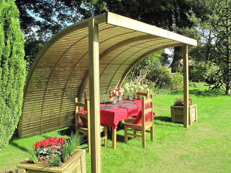 76 best images about garden shelters pergolas on for Small garden shelter