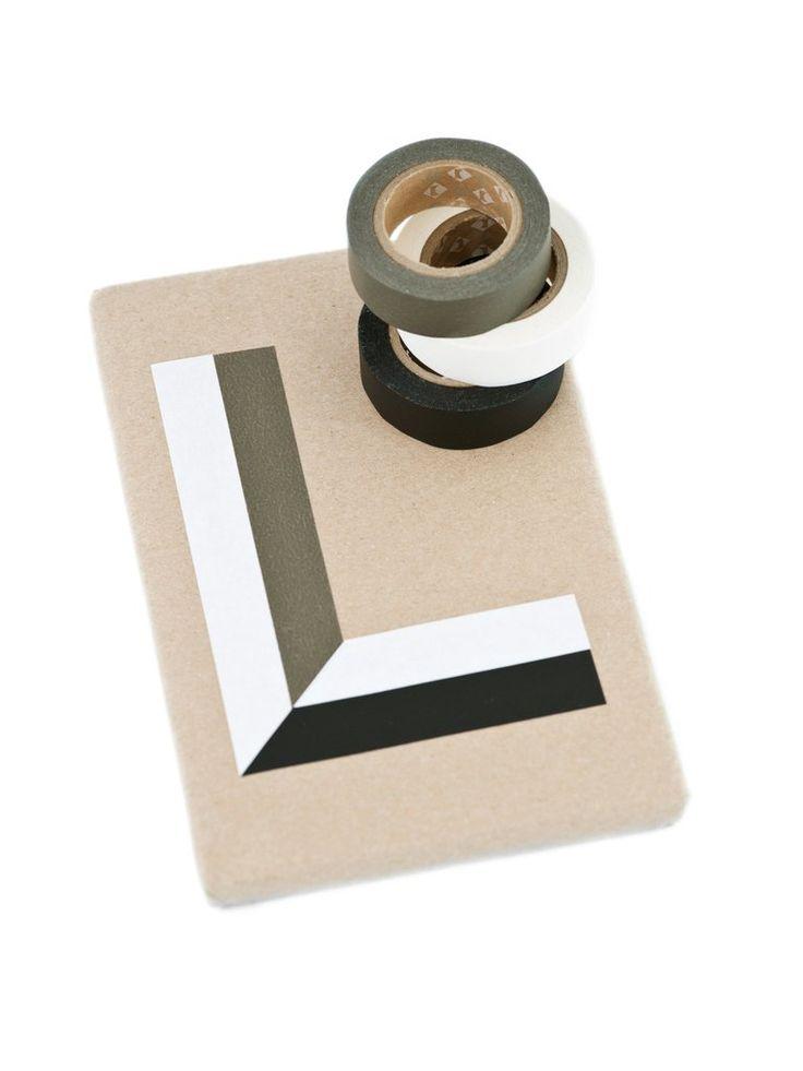 Matte black and white washi tape.