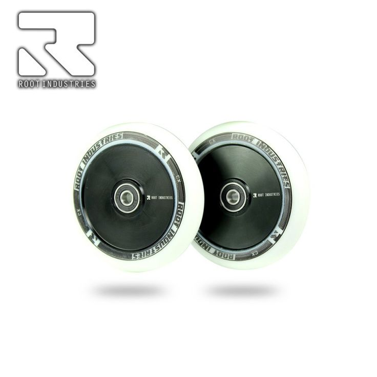 ROOT INDUSTRIES HOLLOW CORE 110MM SCOOTER WHEEL - WHITE/BLACK
